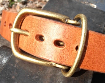 "Clintonville Leather 1 1/2"" Work Belt, Men's Leather Belt, Gun Belt, Belt, Heavy Duty Belt,Full Grain Belt, Harness Leather Belt"