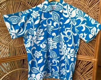 Incredible Authentic Waikiki wear Duke's of Hollywood Aloha shirt. 1950's-60's