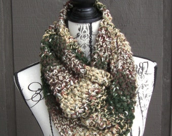 Knit Scarf Infinity Camouflage Camo Woods