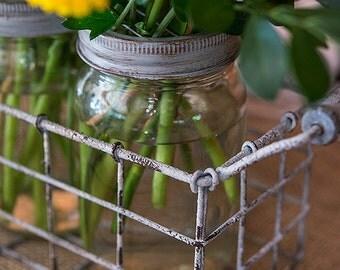 Party Vases, Mason Jars, Jars with Grid Lids, Floral Supplies, Jar Vases, Storage Jars, Craft Jars, Unity Sand Jars, Centerpiece Jars