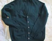 vintage Brooks Brothers Cardigan sz 44 cashmere sweater Hunter Green