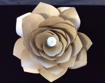 Kraft Paper Flower Clip- Sale