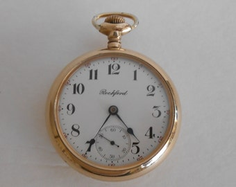 1908 Rockford, grade 935 Size 18s Pocket Watch. Keeps accurate Time