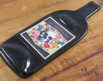 Slumped Wine Bottle Cheese Tray - The Messenger Cabernet
