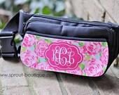 Monogram Fanny Pack, Personalized Bum Bag -BLACK BAG