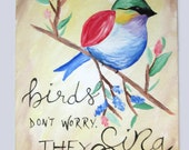 Bird Painting for OhSewNeta