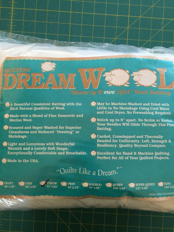 Quilters Dream Wool Batting ~ Throw Size