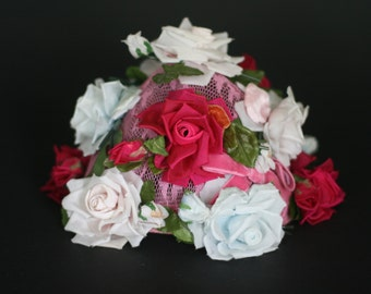 vintage rose hat by modern miss