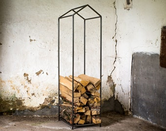Small Firewood Holder // Quadrat // Storage Box Container for