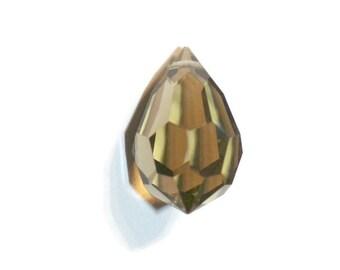 Preciosa Czech Crystal Drop - Gold Beryl - top hole drilled - 12x20mm - 1 piece (038-P9)