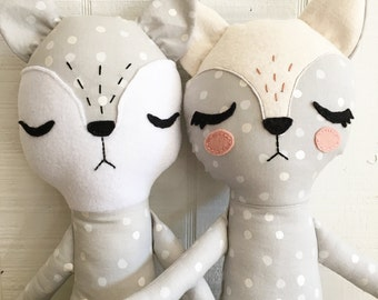 Fox Pattern, Fox Stuffed Animal, Fox Sewing Pattern, PDF Sewing Patterns, PDF Pattern, Woodland Animals, Instant Download, Stuffed Animal