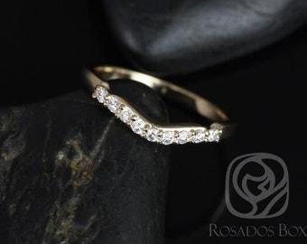 Rosados Box 14kt Yellow Gold Matching Band to Carla 9&6mm Diamonds SHORT of HALFWAY Eternity Band