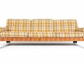 Danish Mid Century Modern Rosewood Three Seat Settee Sofa