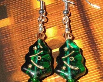 Bead Kits: Christmas Tree Swarovski STERLING SILVER 925 Earring Kits, Make Your Own, DIY, Christmas Tree, Holiday Gifts