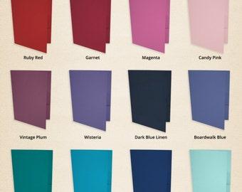 9 x 12 Presentation Folders -Pick a Color (50 Qty.)