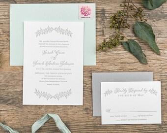 Letterpress Invitation Sample