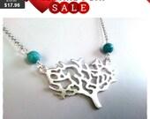 Lovely Tree Pendant Necklace, Friendship, wedding necklace, charm, Best Friends,Necklace.
