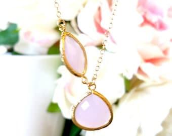 Blush Pink Necklace, Lariat, Pendant necklace, Wedding Necklace Bridal Jewelry Bridesmaid Gift,Beadwork,Choker,Strand,statement, GIFT