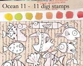 Oceans 11 - 11 digi stamps