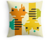 Colorful, Abstract Throw Pillow for your Home Decor