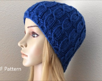 PDF Pattern, How To Knit A Slip Cross Cable Hat