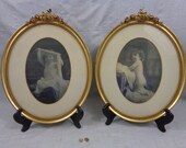 Antique Oval Frames, Gold Gilt Photo Frames