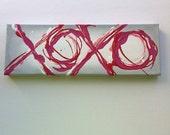Valentines XOXO 4x12 Original Painting