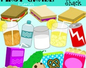 Snack Shack {Digital Clip Art} Sandwich, Chips, Cookies, Drinks