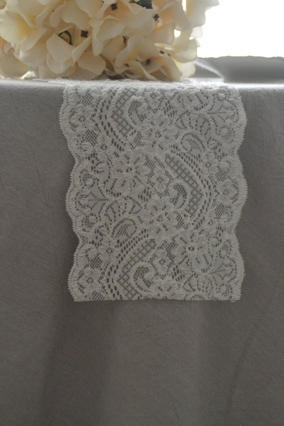 Ivory lace table runner 6 wide size 3ft 12ft length for 12 ft table runner