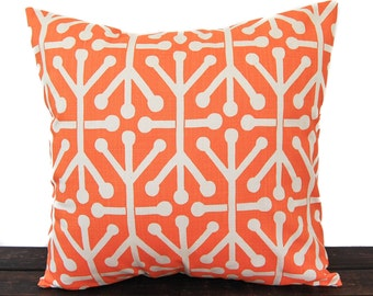 Decorative Throw Pillow Cover orange and natural Aruba print Autumn Fall cushion cover pillow sham