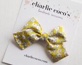 "Baby Bow Headband OR Hair Clip // Liberty of London Hair Bow ""Daisy II"" by Charlie Coco's"
