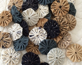 Handmade Fabric Yo-Yo's