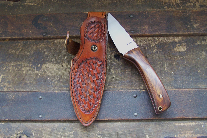 Custom Drop Point Skinning Knife Fixed Blade Hunting Knife