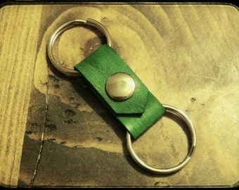 Key Keeper Ring - Leather Key Chain Snap - Holds Over 3 Key Rings - Valet with ease, only give your car keys!
