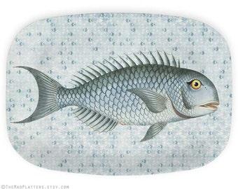 Fish I melamine platter