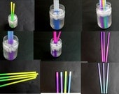 "NEW! 30pcs Awesome Color changing Party Straws, 9"" Heavyweight Reusable Recyclable Eco Friendly Drinking Straws, Plastic 9"" Drinking Straws"