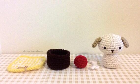 Amigurumi Pattern Crochet Animal Dog Chibi Kokeshi Doll ...