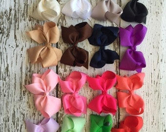 """4.5 inch Boutique Knotted Bows - Your choice of 16 colors - You choose: 2  bows, 4 bows, or 10 bows - 4.5"""" Hair Bows (no clips)"""