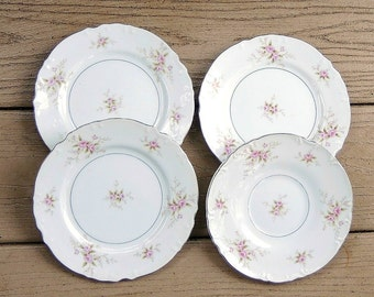 Mikasa Versailles Fine China Plates Set of 4, Dessert Plates Saucer Tea Party, Replacement China, Cottage Chic, Shabby Chic
