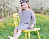 The Simply Grey Lace Flower Girl Dress
