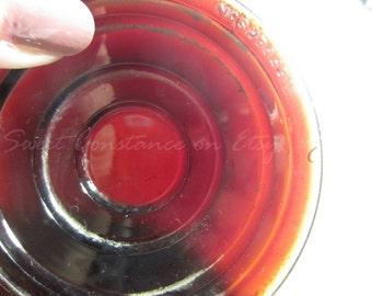 Amber Red Jefferson 906 Vintage Tail light Lens // Vintage Glass Auto Brake Tail Lights // Glass Tail light Brake Lens //