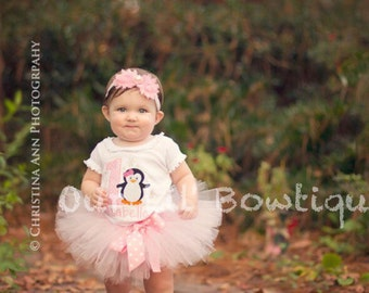 ONE-derland - Winter Onederland Birthday Shirt- Personalized Birthday Shirt - Penguin Birthday Shirt - Tutu 1st Birthday -Penguin Tutu