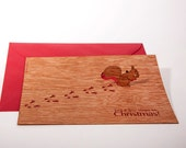 pop up cards wood with envelope - 3 squirrel cards