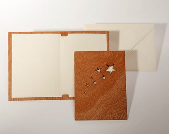 Greeting cards with paper insert and envelope - 3 startail cards