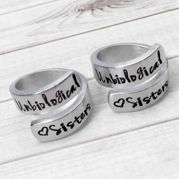 best friend rings unbiological matching by thekraftbox