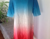 tie dyed  french nehru dress