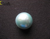 Green Rose Organic Mabe Pearl Cabochon - 11mm round SG2