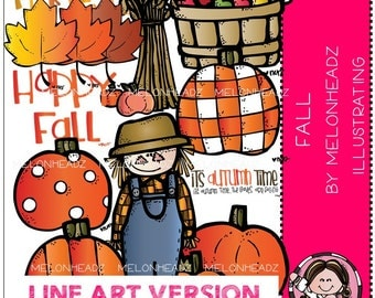 Melonheadz: Happy Fall LINE ART