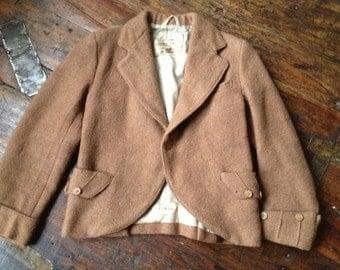 Boys Harris Tweed Jacket, Scottish Kilt Jacket, Traditional Pure Virgin Wool
