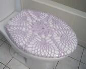 Crochet Toilet Seat Cover  - Sugar Plum (TSC12H)
